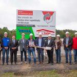 Offizieller Spatenstich zum Neubau der Logistikhalle mit Bürotrakt