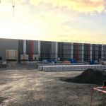 Neubau der Logistikhalle mit Bürotrakt